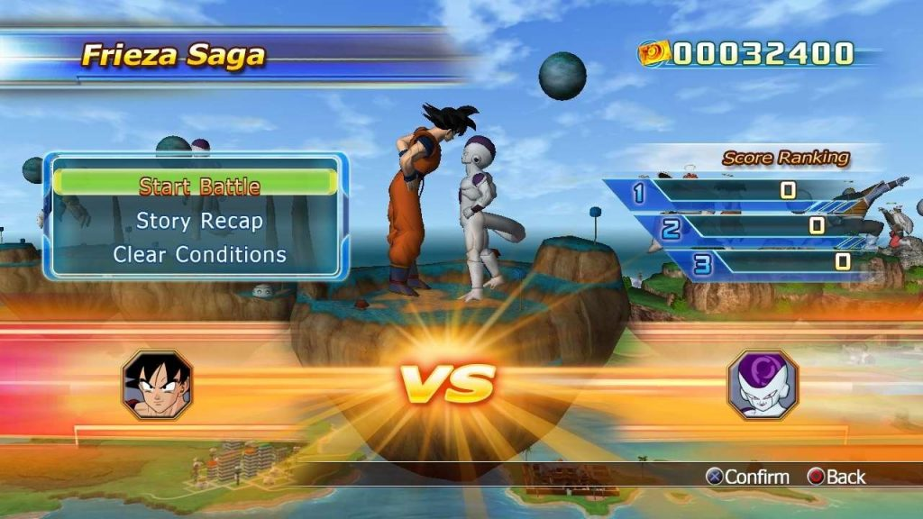 Dragon Ball: Raging Blast Goku vs Freeza
