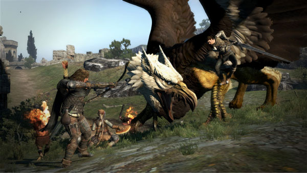 Dragon's Dogma Griffin Battle