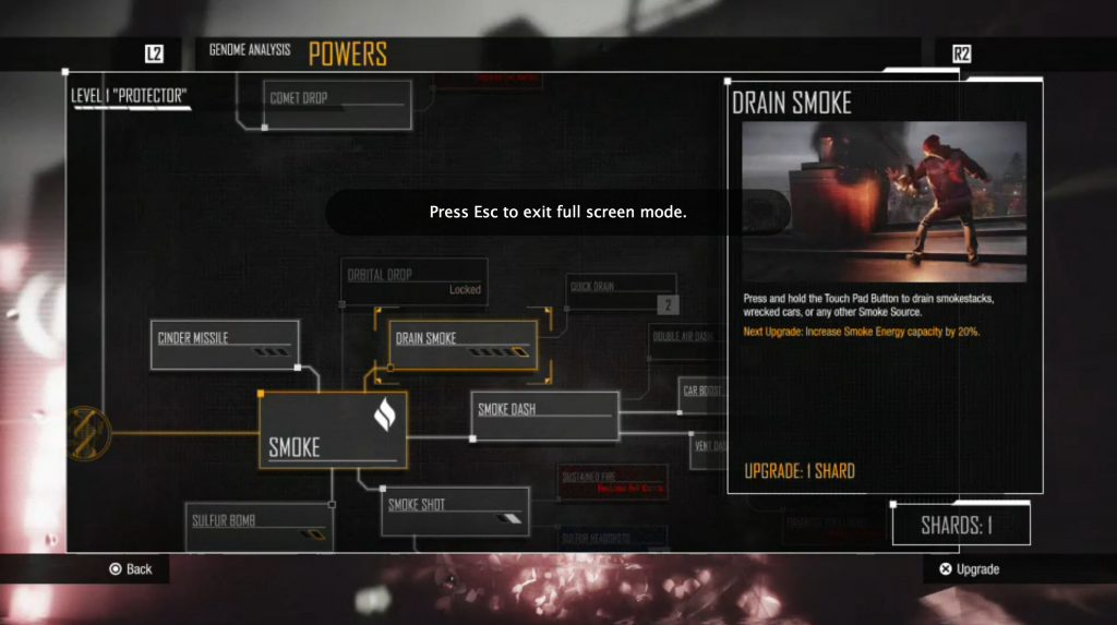 Infamous: Second Son Drain Smoke Powers