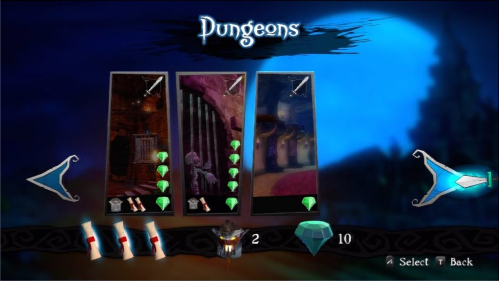 Medieval Moves: Deadmund's Quest Dungeon review screen