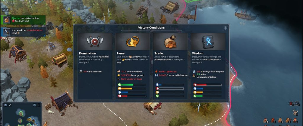 Northgard Victory Menu