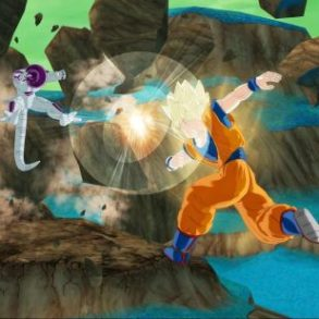 Goku attacks Freeza