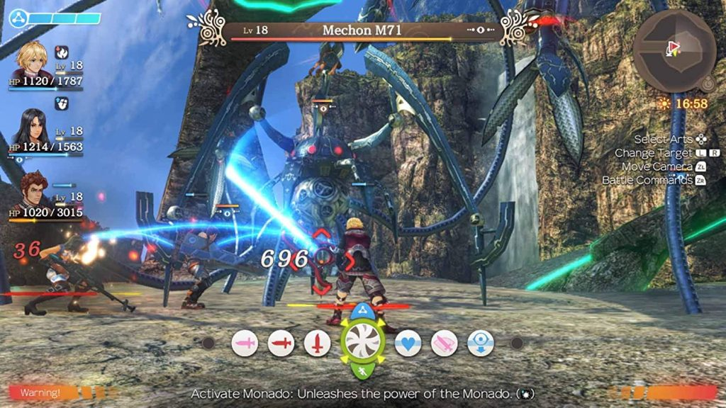 Xenoblade Chronicles: Definitive Edition Combat